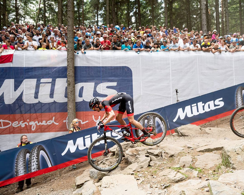 Pablo Rodríguez Guede en carrera XCO UCI World Cup.
