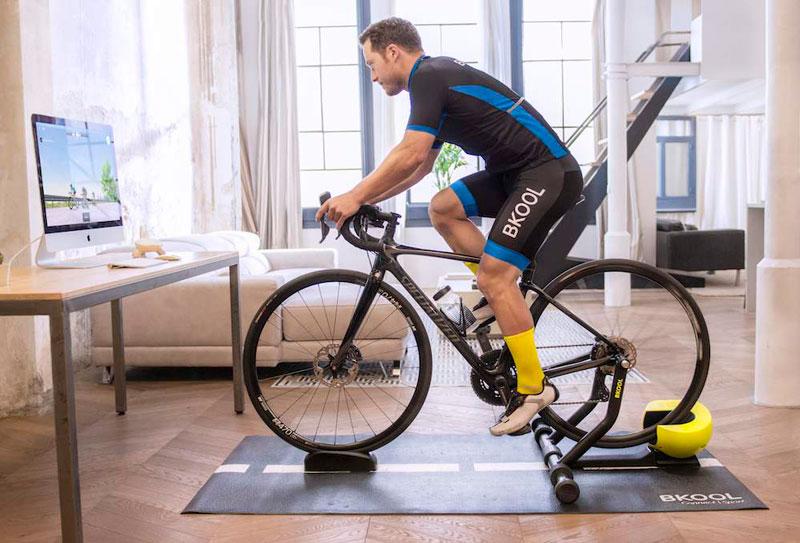 Rodillo para ciclismo indoor.